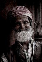 old man at jama masjid ~ pay him for the privilege of taking his photo